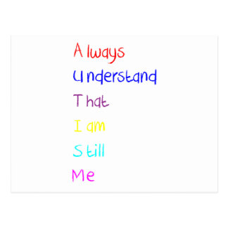 Autism Acrostic Poem Crayon Postcard