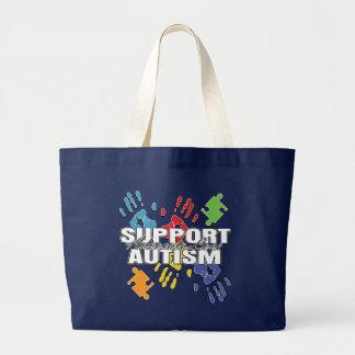 Autism Advocacy Handprints Canvas Bags