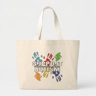 Autism Advocacy Handprints Jumbo Tote Bag