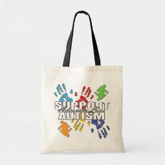 Autism Advocacy Handprints Budget Tote Bag
