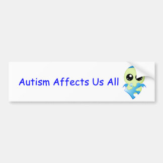Autism Affects - Baby Cthulhu Car Bumper Sticker