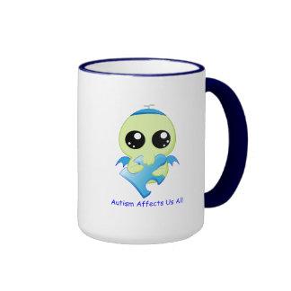 Autism Affects - Baby Cthulhu Ringer Mug