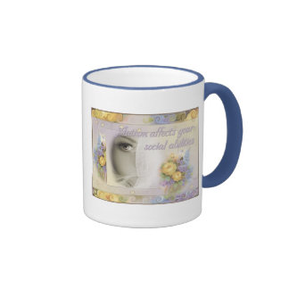 """""""Autism Affects Your Social Abilities"""" Ringer Mug"""