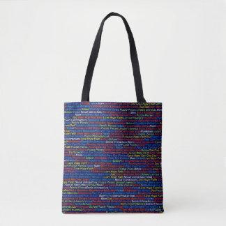 Autism  All-Over-Print Tote Bag, Medium
