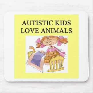 autism autistic kids love animals cats dogs mouse mats
