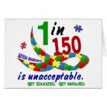 AUTISM AWARENESS 1 IN 150 IS UNACCEPTABLE