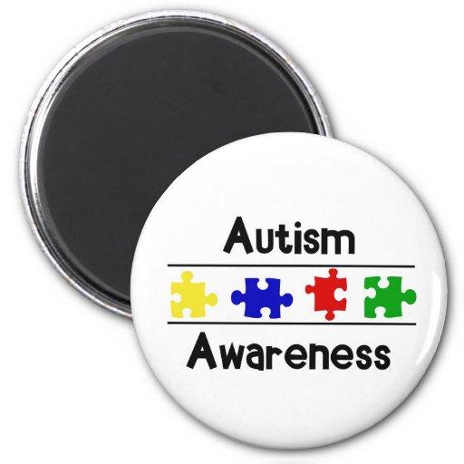 Autism Awareness 6 Cm Round Magnet