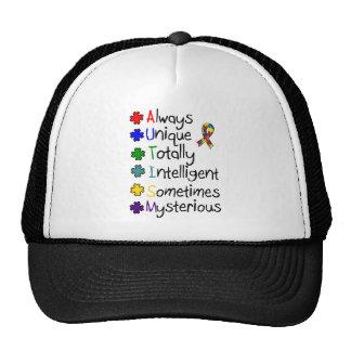 Autism Awareness A-U-T-I-S-M Cap