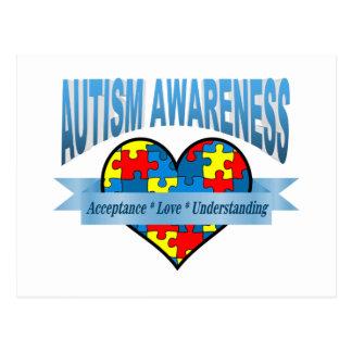 Autism Awareness. Acceptance Love Understanding Postcard