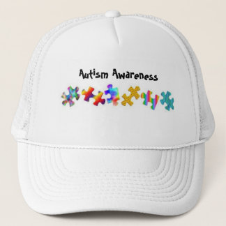 Autism Awareness (All White) Trucker Hat