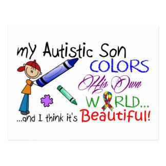 Autism Awareness - Awesome Son! Postcard