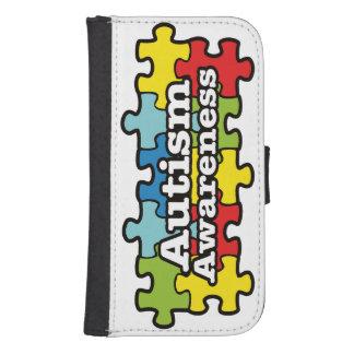 Autism Awareness Banner Samsung S4 Wallet Case