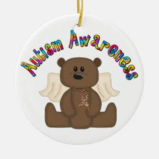 Autism Awareness Bear Christmas Ornament