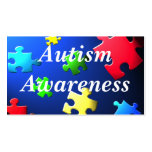 Autism Awareness Behaviour Information Card