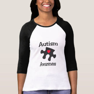 Autism Awareness (Blk Rd Hrt) T-Shirt