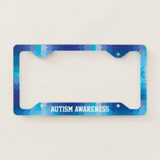 Autism Awareness Blue Puzzle Pattern