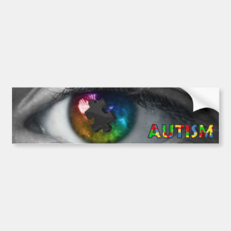 Autism Awareness Bumper Sticker Multicolor Eye