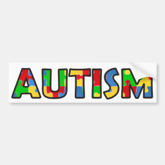 Autism Awareness Bumper Sticker Multicolor Puzzle