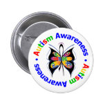 Autism Awareness Butterfly 6 Cm Round Badge