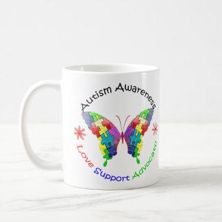 Autism Awareness Butterfly Coffee Mug