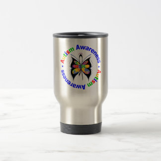 Autism Awareness Butterfly Coffee Mugs