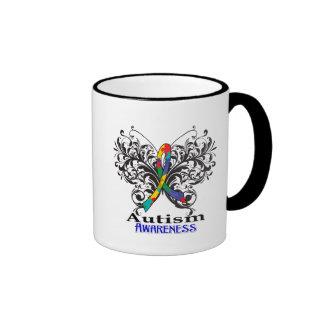 Autism Awareness Butterfly Ringer Mug