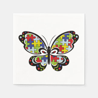 Autism Awareness Butterfly Paper Serviettes