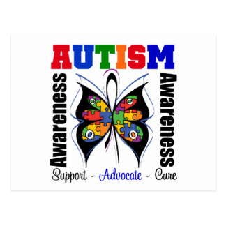 Autism Awareness Butterfly Postcard