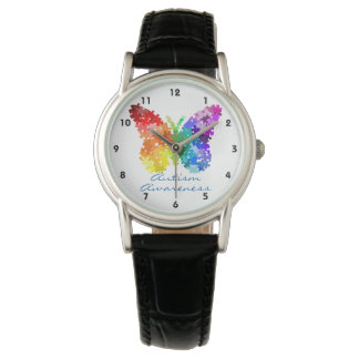 Autism Awareness Butterfly Puzzle Design Watch