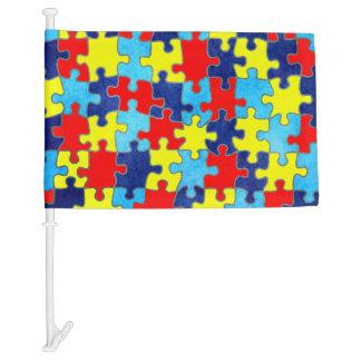 Autism Awareness Car Flag