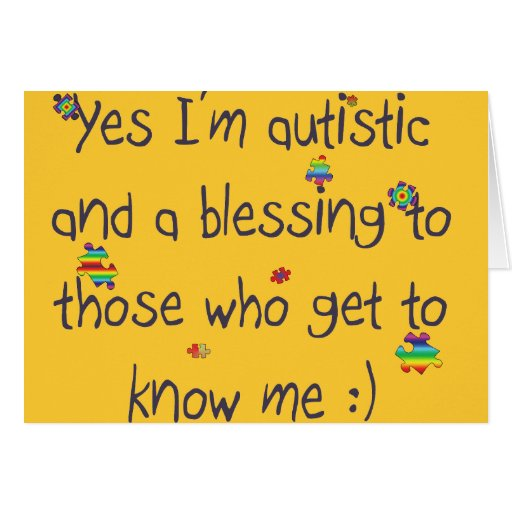Autism awareness greeting card