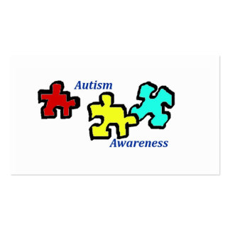 Autism Awareness Cards Business Card Templates