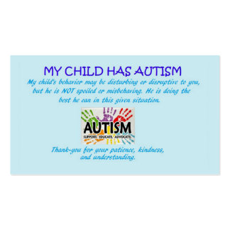 Autism Awareness cards Pack Of Standard Business Cards