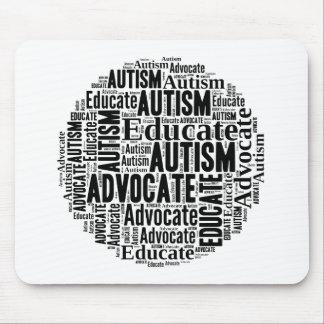 Autism Awareness Circle Design GoTeamKate Mouse Pad