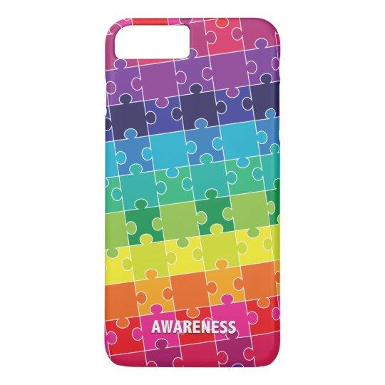 Autism Awareness Colourful Puzzle Pieces iPhone 8 Plus/7