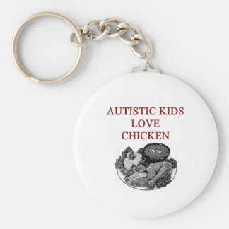 autism awareness design what autistic kids love basic round button key ring