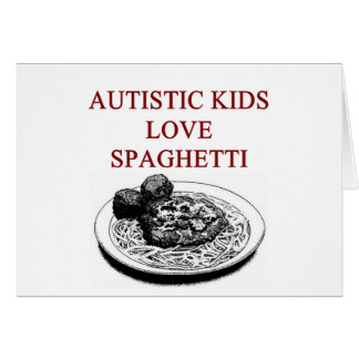 autism awareness design what autistic kids love greeting card