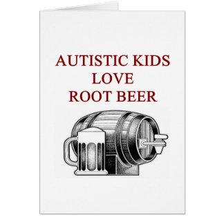 autism awareness design what autistic kids love greeting card