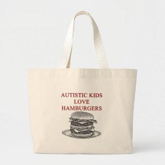 autism awareness design what autistic kids love large tote bag