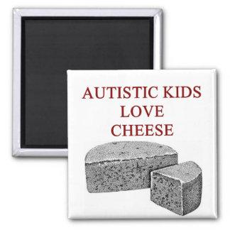 autism awareness design what autistic kids love refrigerator magnet