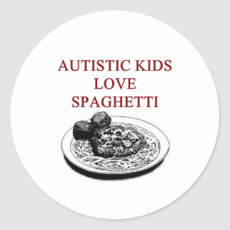autism awareness design what autistic kids love round sticker