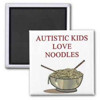 autism awareness design what autistic kids love square magnet
