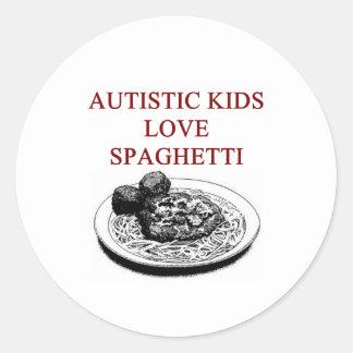autism awareness design what autistic kids love sticker