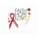 Autism Awareness - Faith, Hope, Love Postcard