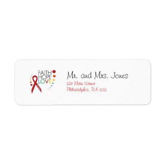 Autism Awareness - Faith, Hope, Love Return Address Label
