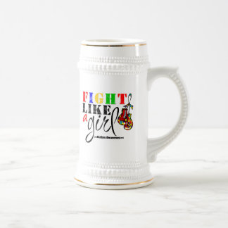Autism Awareness Fight Like a Girl Beer Steins