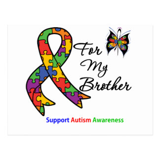 Autism Awareness For My Brother Postcard