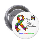Autism Awareness For My Grandson 6 Cm Round Badge