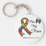 Autism Awareness For My Niece Basic Round Button Key Ring
