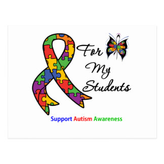 Autism Awareness For My Students Postcard